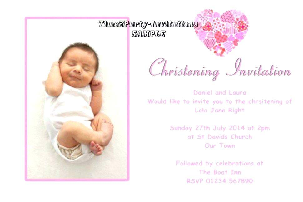Baptism Invitation Template With Godparents