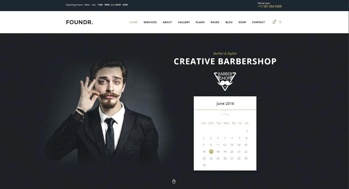 Barbers Website Templates