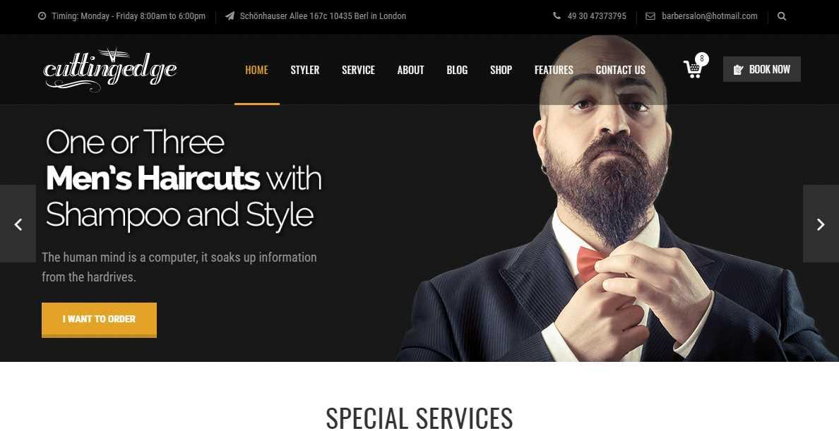 Barbershop Website Templates