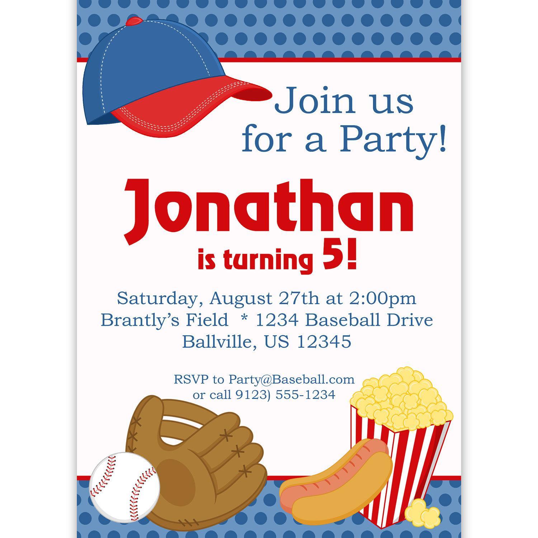 Baseball Party Invitation Template