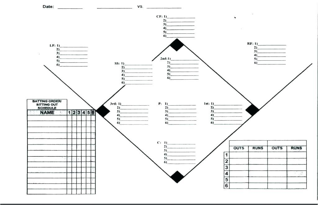 Baseball Tournament Schedule Template