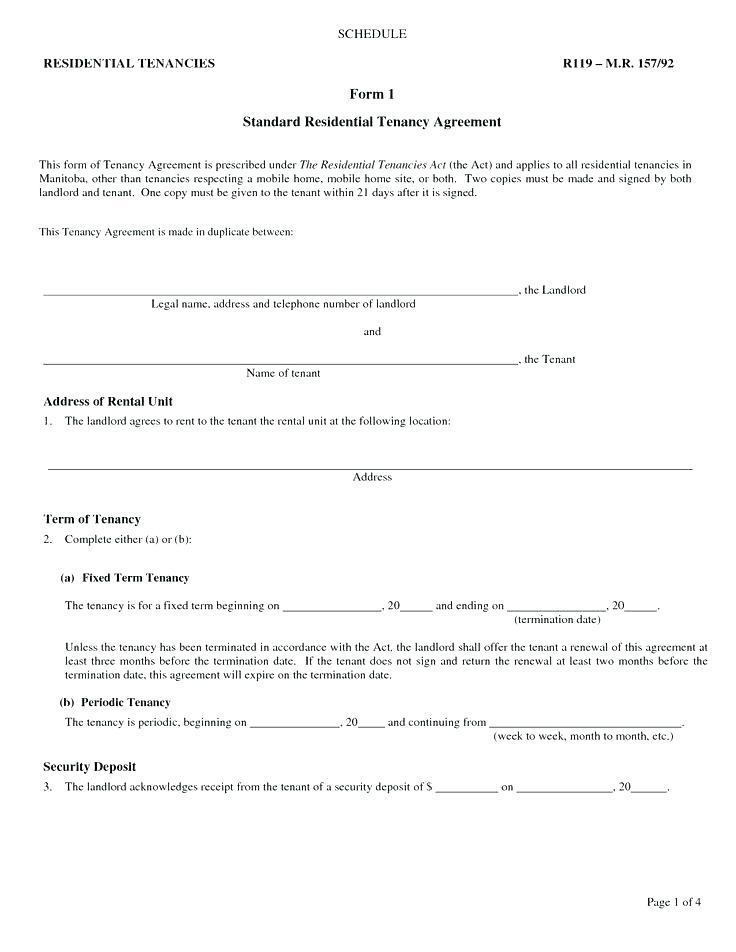 Basic Rent Contract Template