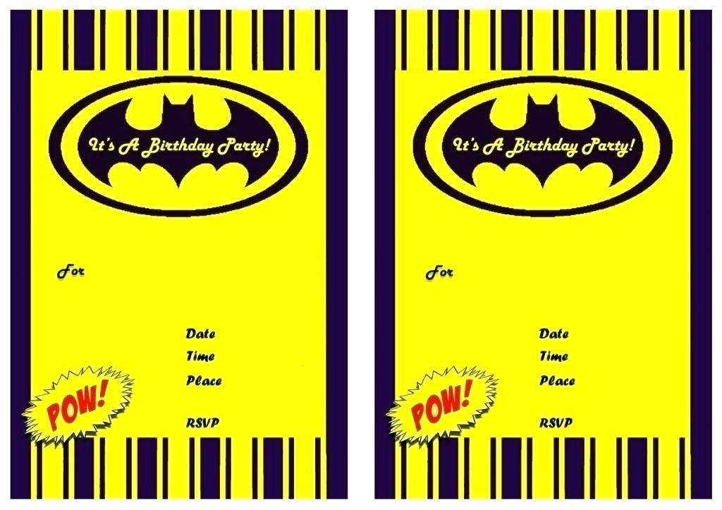 Batman Birthday Invitation Templates
