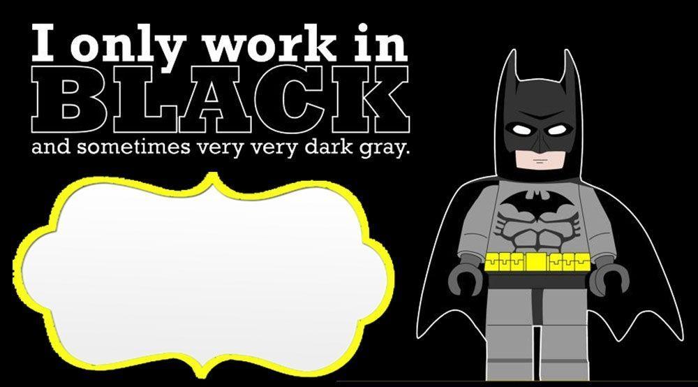 Batman Invitations Templates