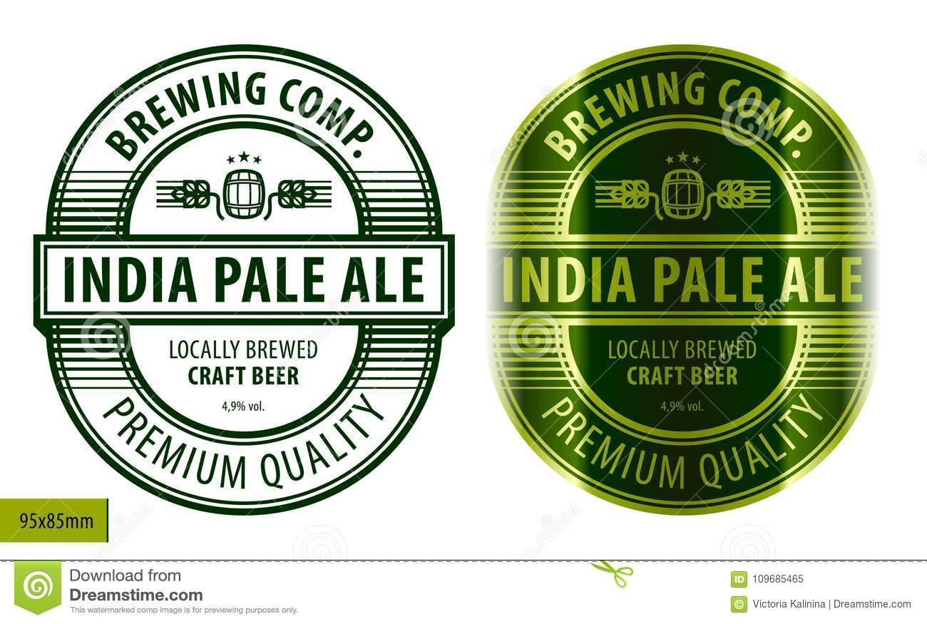 Beer Label Template Vector