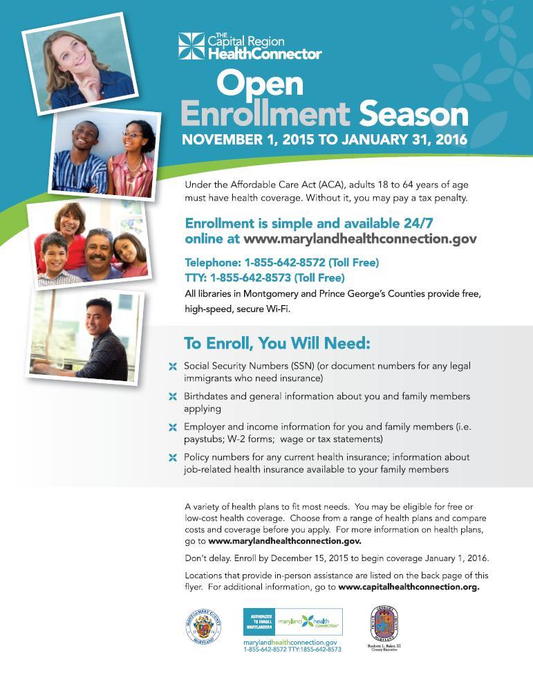 Benefits Open Enrollment Flyer Template