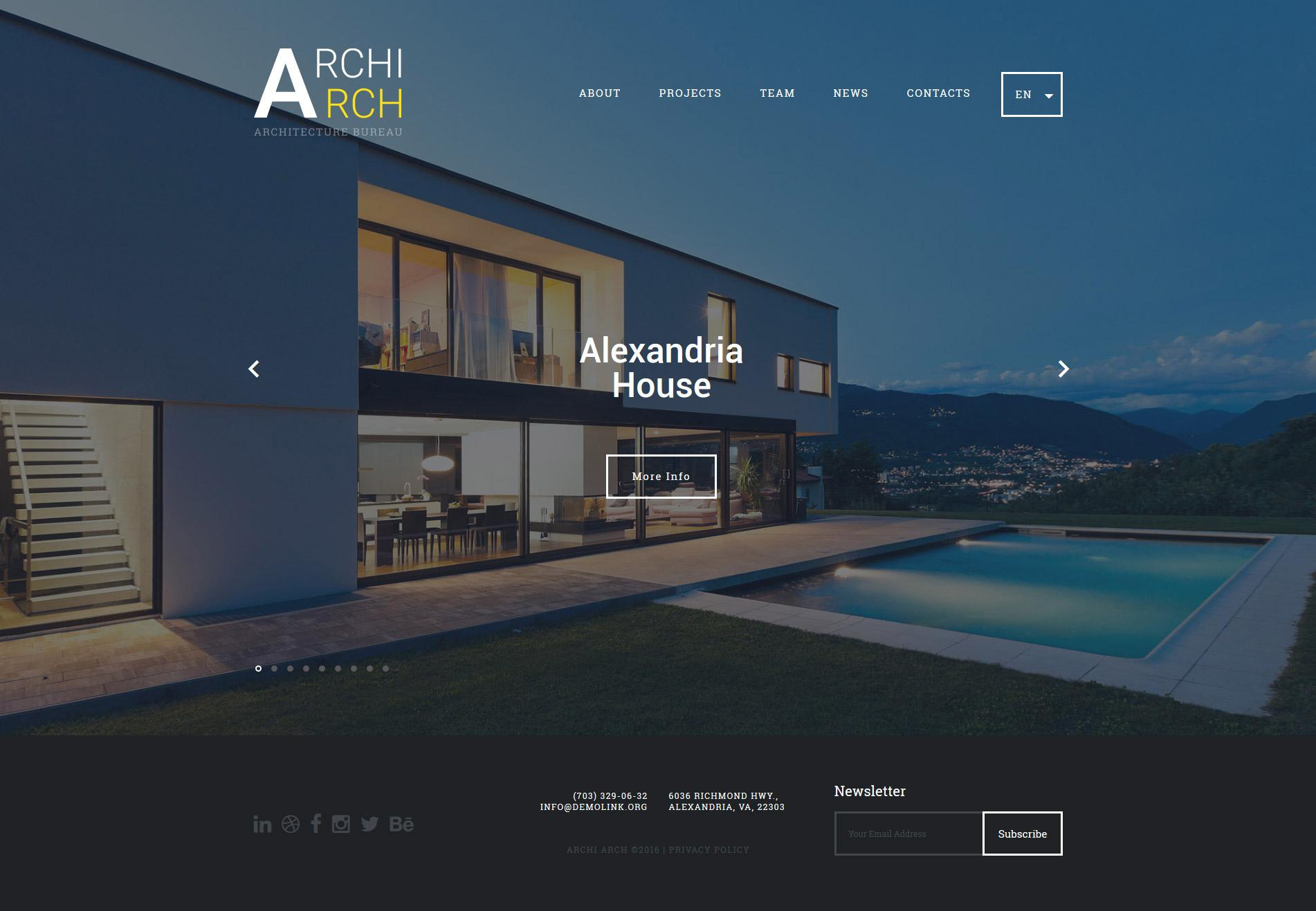 Best Architecture Website Templates