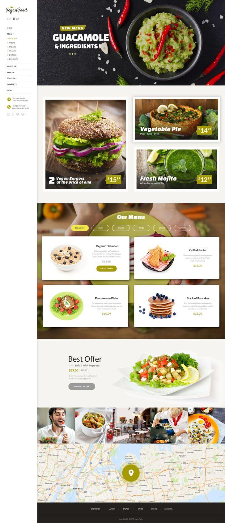 Best Restaurant Website Template