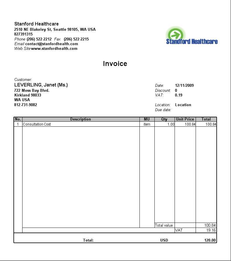 Billing Invoice Format In Word