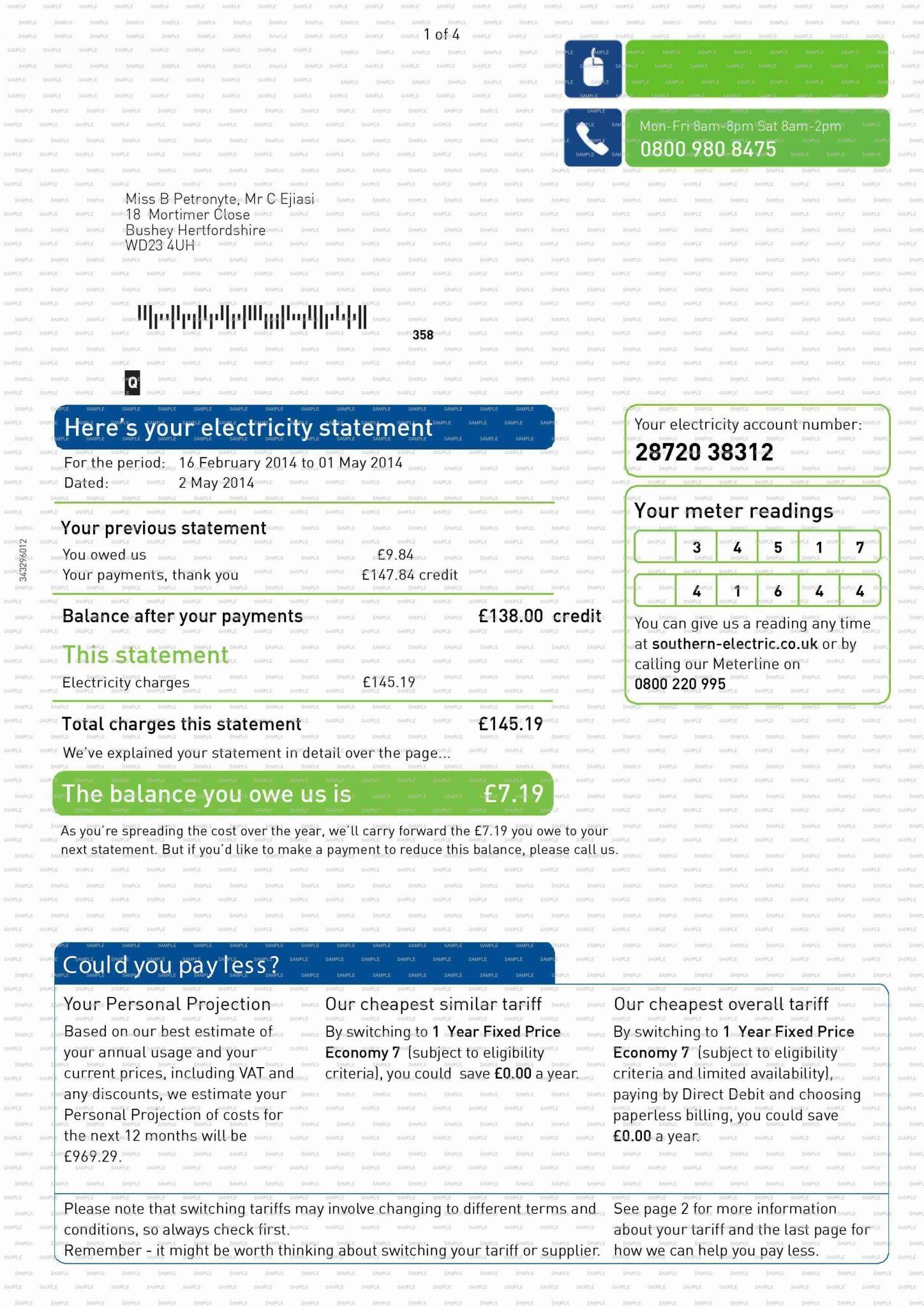 Billing Statement Template Free Download