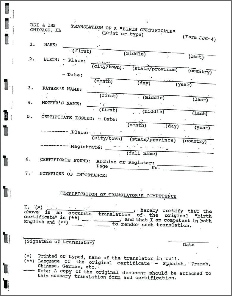 Birth Certificate Translation Template From Vietnamese To English