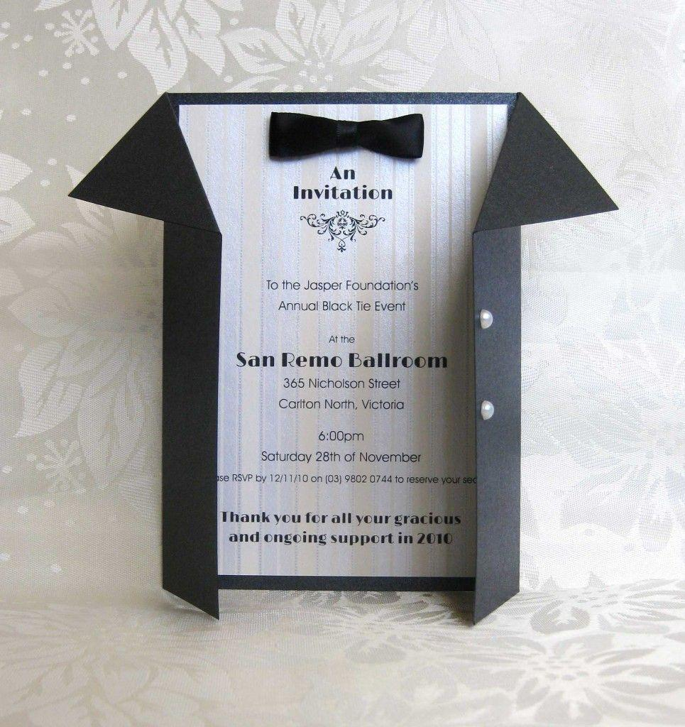 Black Tie Dinner Invitation Template