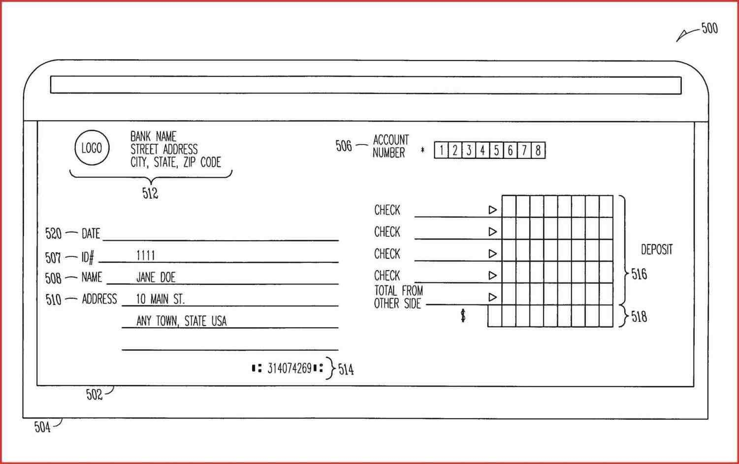 photograph about Free Printable Deposit Slips named Financial institution Deposit Slips Template - Templates #46610 Resume Illustrations