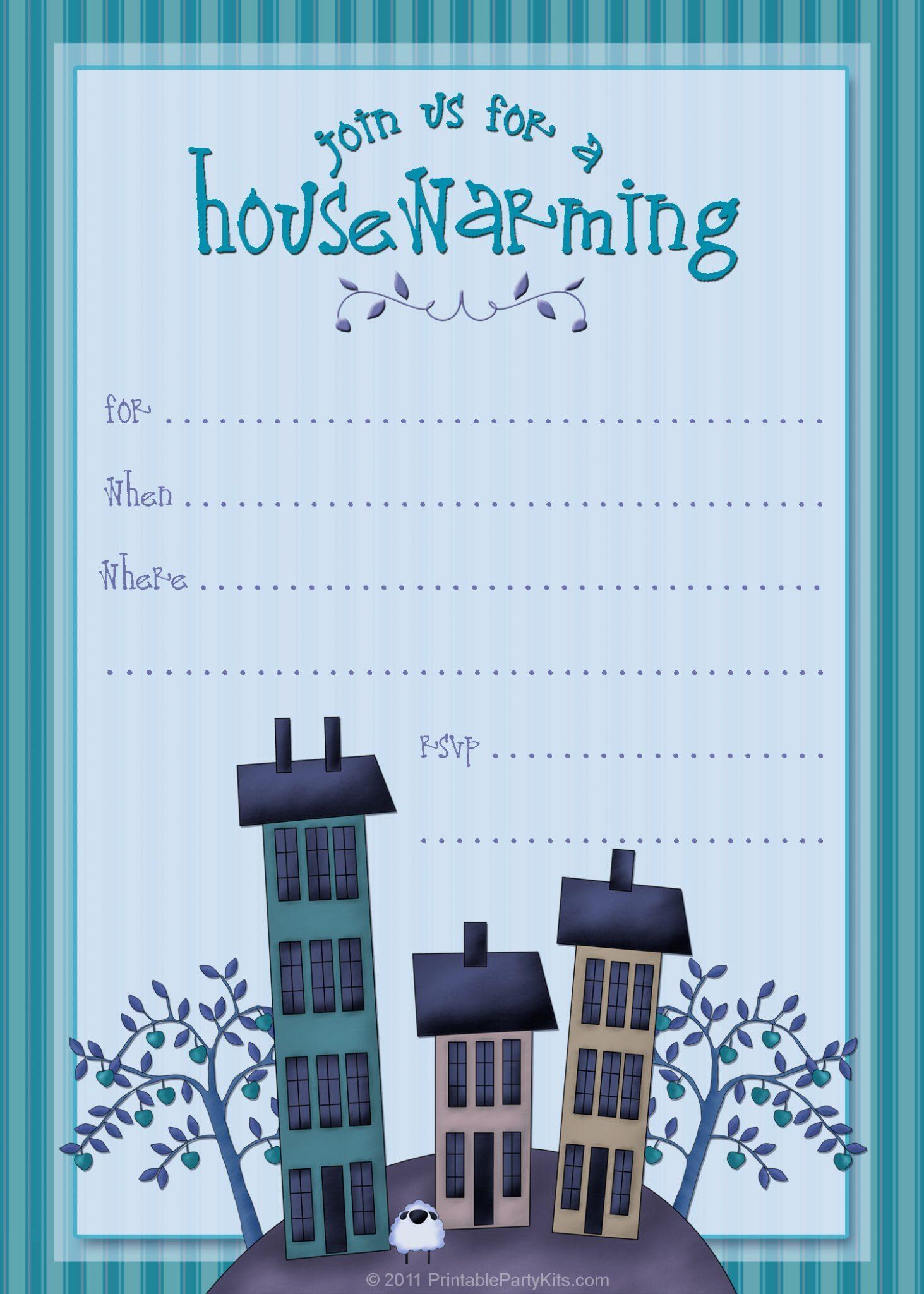 Blank Housewarming Invitation Templates