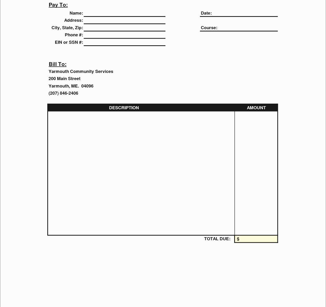 Blank Invoice Template Nz