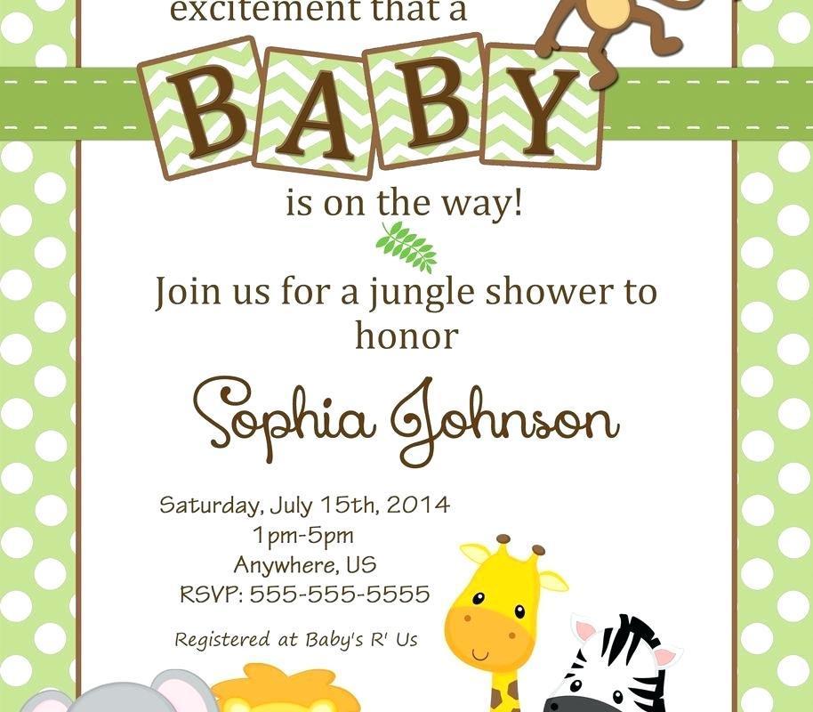 Blank Safari Invitation Template