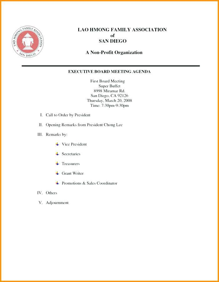Board Meeting Agenda Template Nz