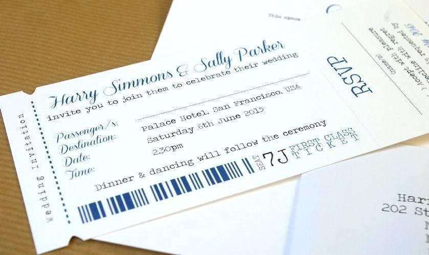 Boarding Pass Wedding Invitation Samples