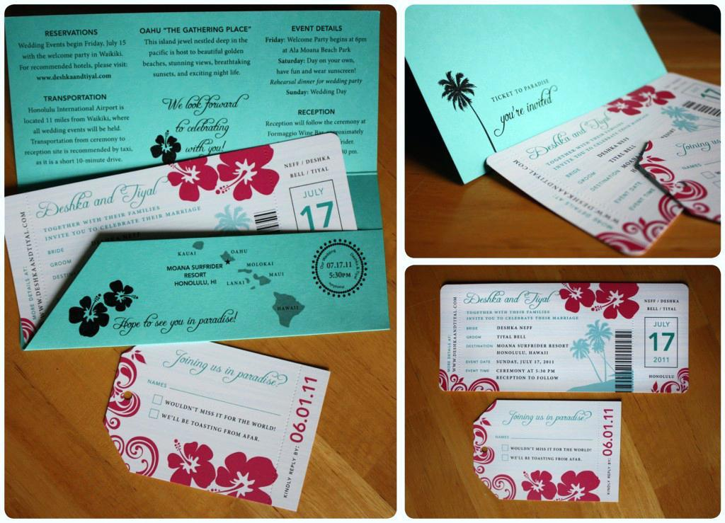 Boarding Pass Wedding Invitations With Rsvp Template