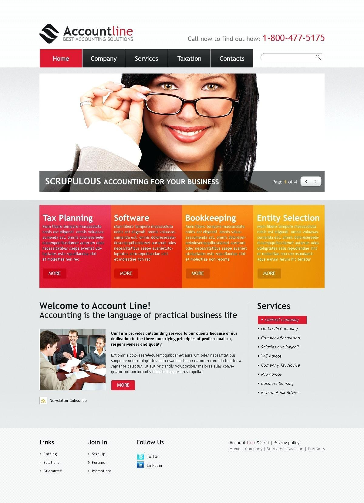 Bookkeeping Website Templates Free
