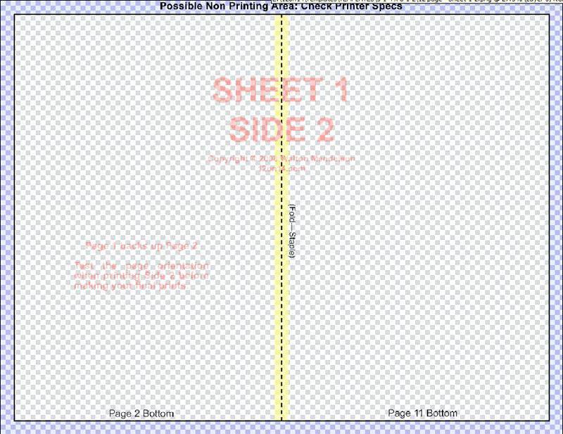 Booklet Printing Template Word