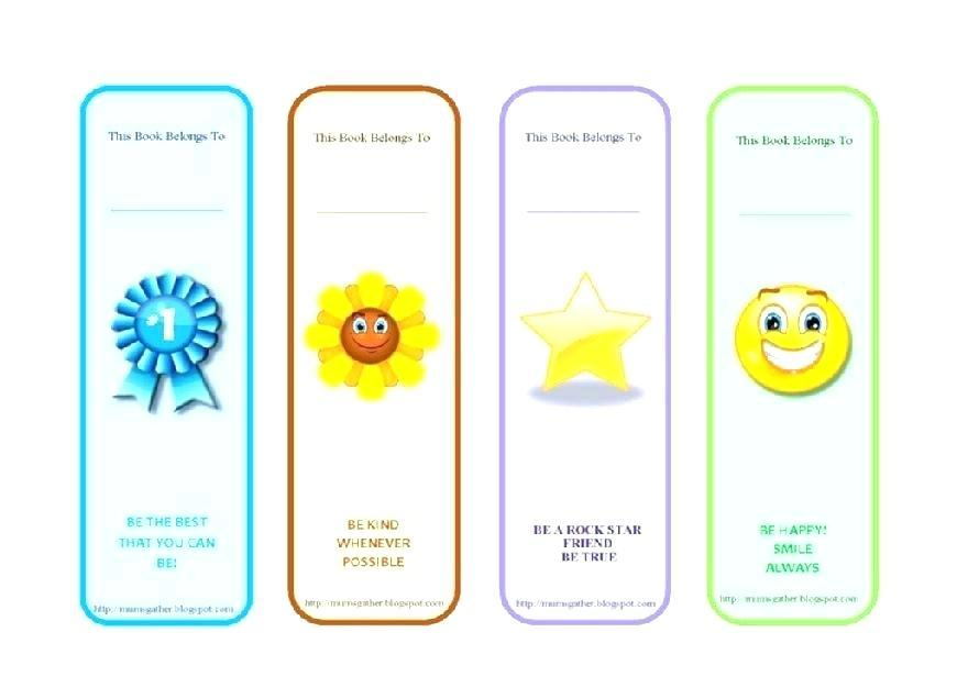 Bookmark Template To Colour