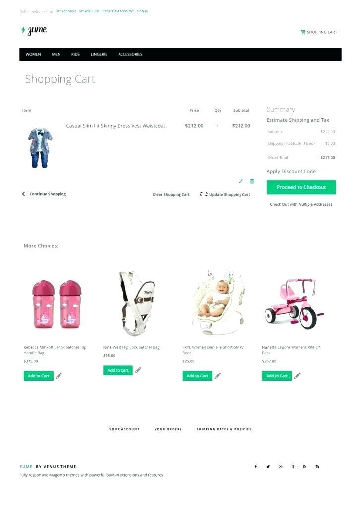 Bootstrap Responsive Shopping Cart Template