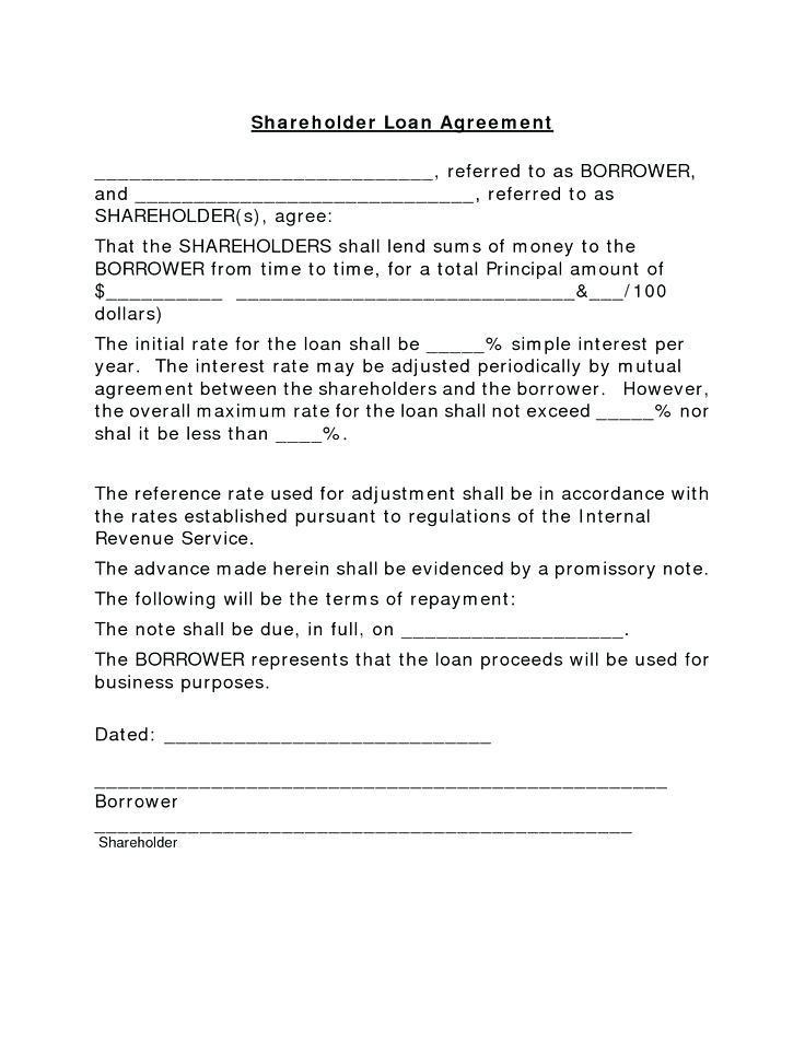 Borrow Money Agreement Template