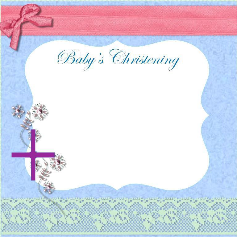 Boy Christening Invitation Templates Free