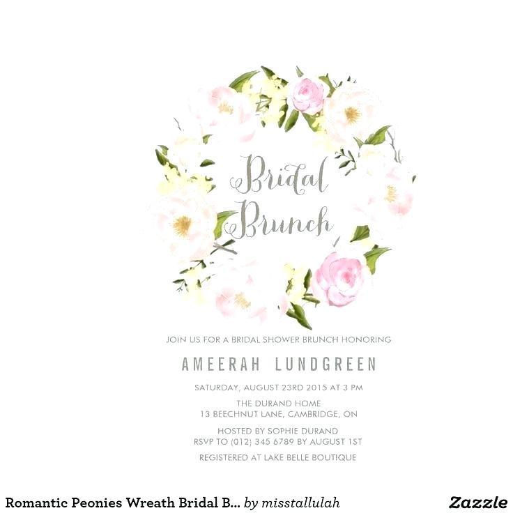 Bridal Luncheon Invitation Templates