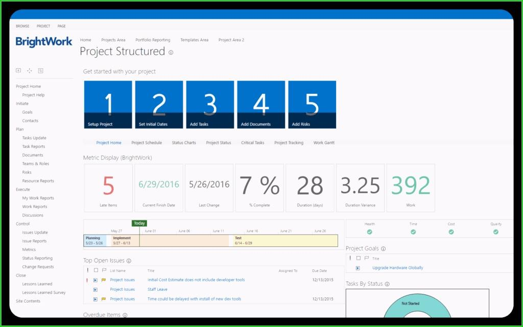 Brightwork Sharepoint Project Management Templates