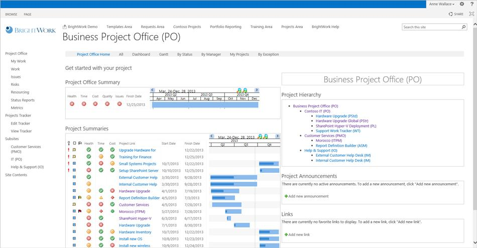 Brightworks Sharepoint Project Management Template