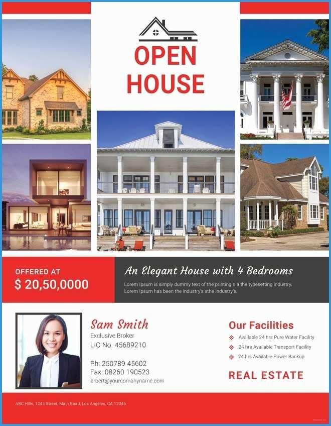 Broker Open House Flyer Template Free