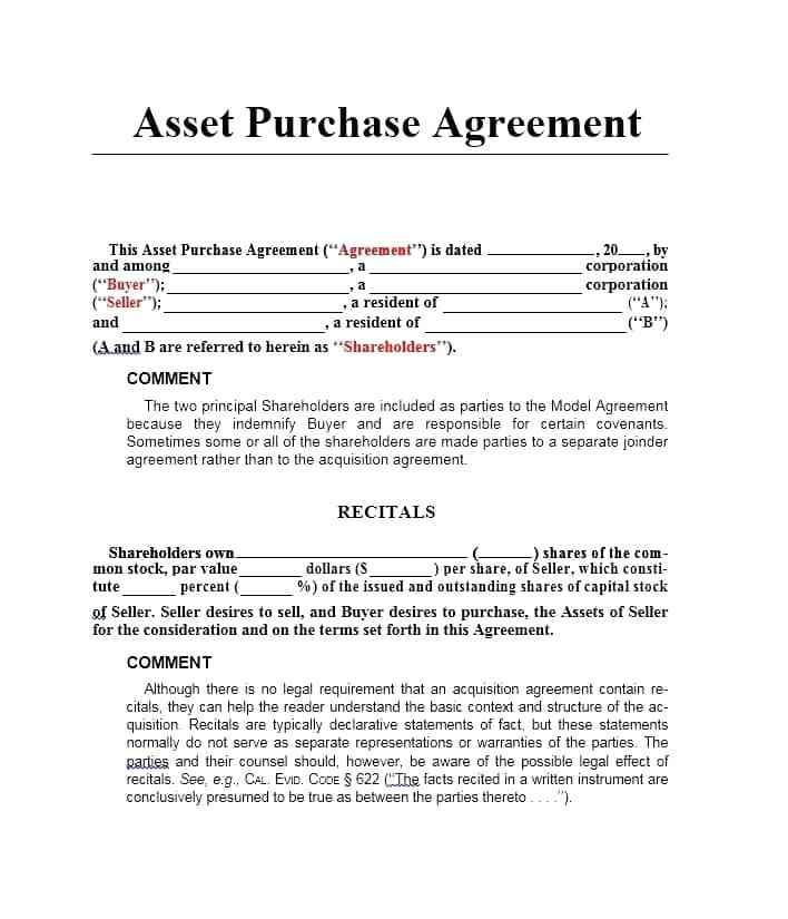 Business Buyer Seller Agreement Form