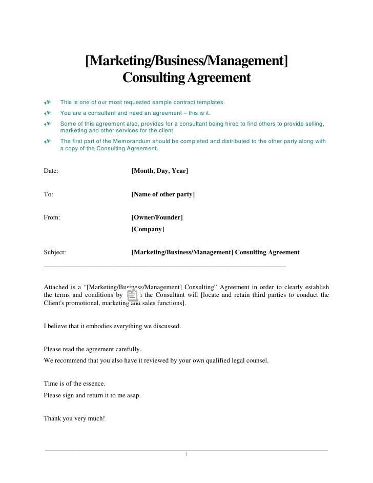 Business Consulting Agreement Template