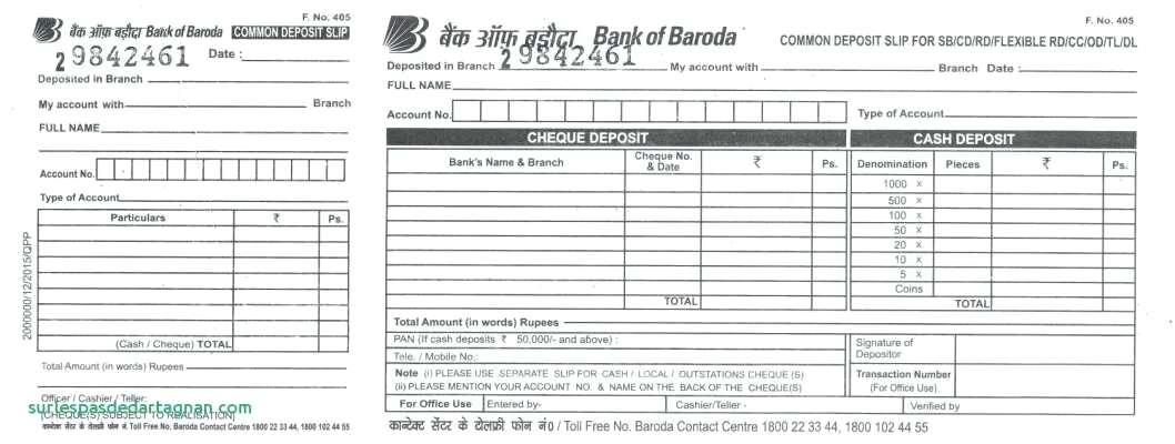 Free Printable Deposit Slips Template - Templates #79261