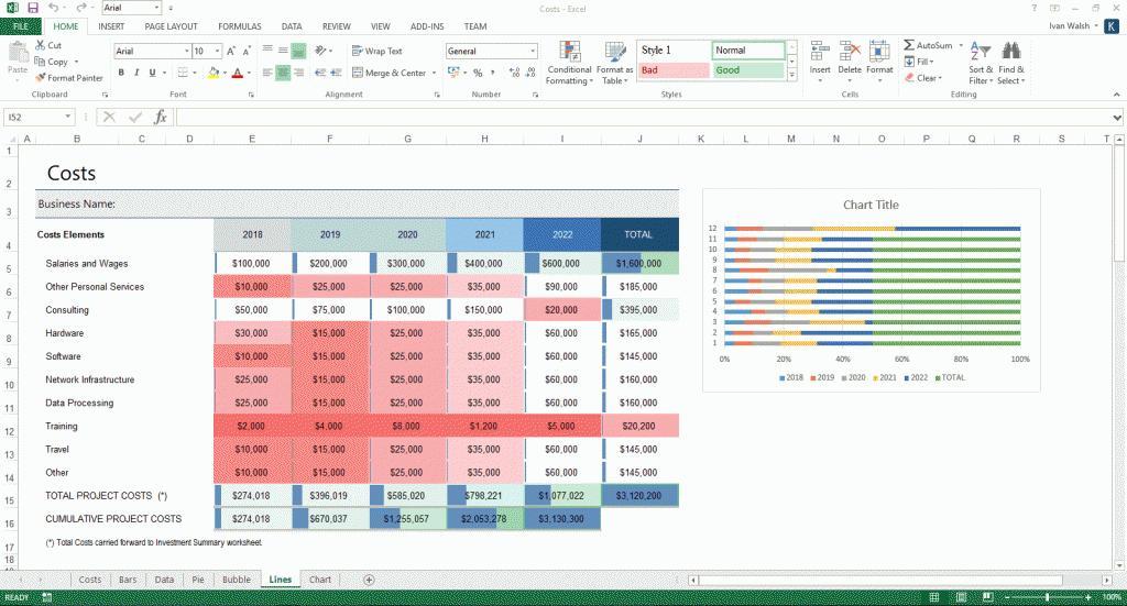 Business Plan Finance Excel Templates