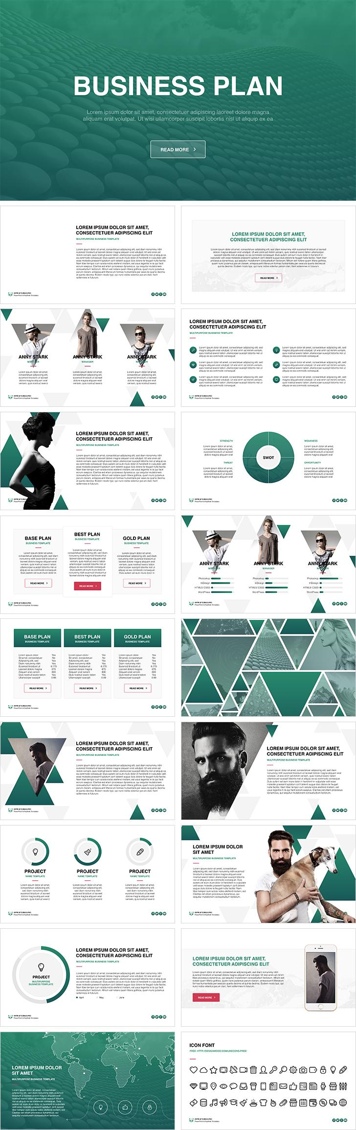 Business Plan Keynote Template Free Download