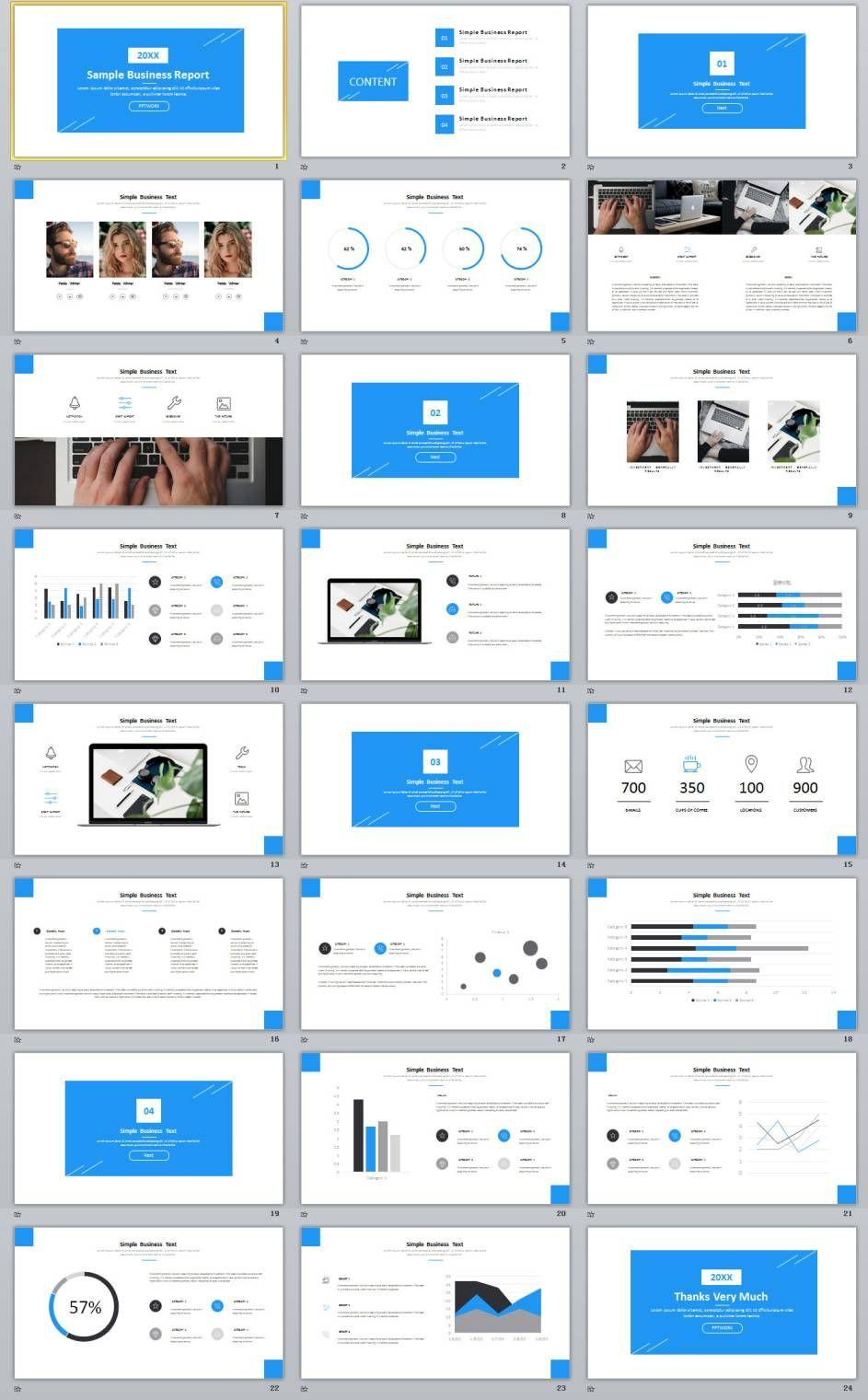 Business Powerpoint Templates Pinterest