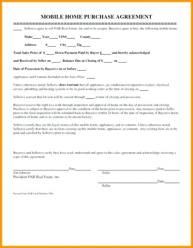 Buyer Seller Agreement Form For House