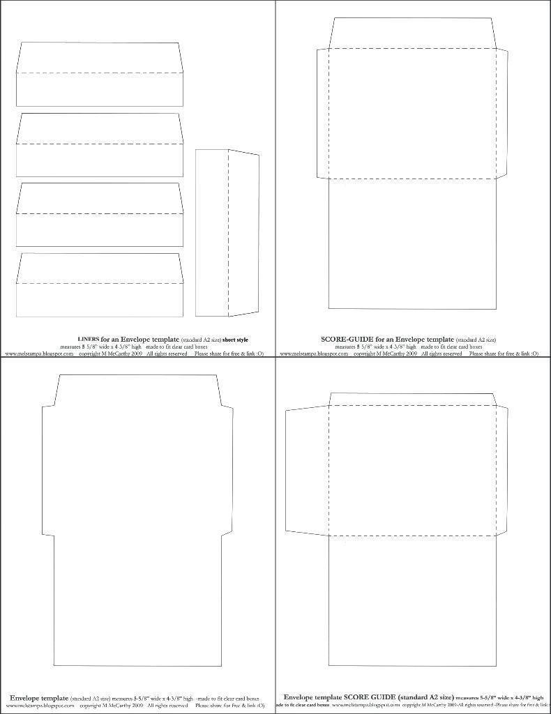 C4 Window Envelope Template Indesign