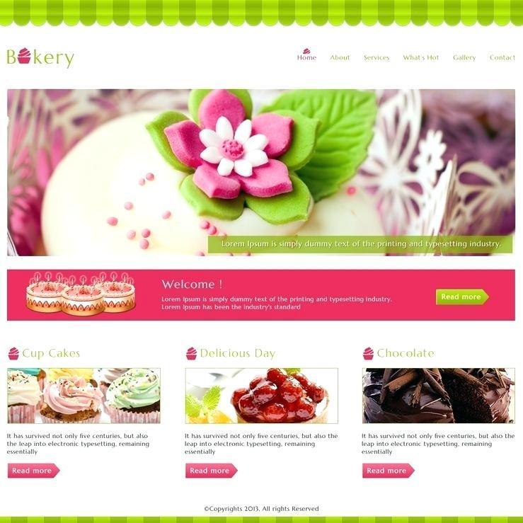Cake Business Website Template