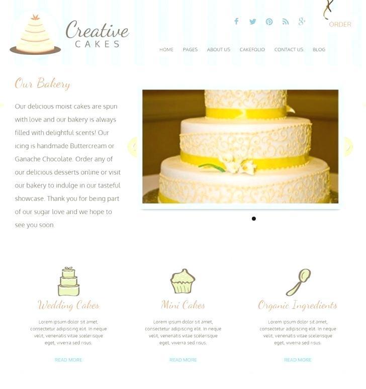 Cake Decorating Website Templates Free
