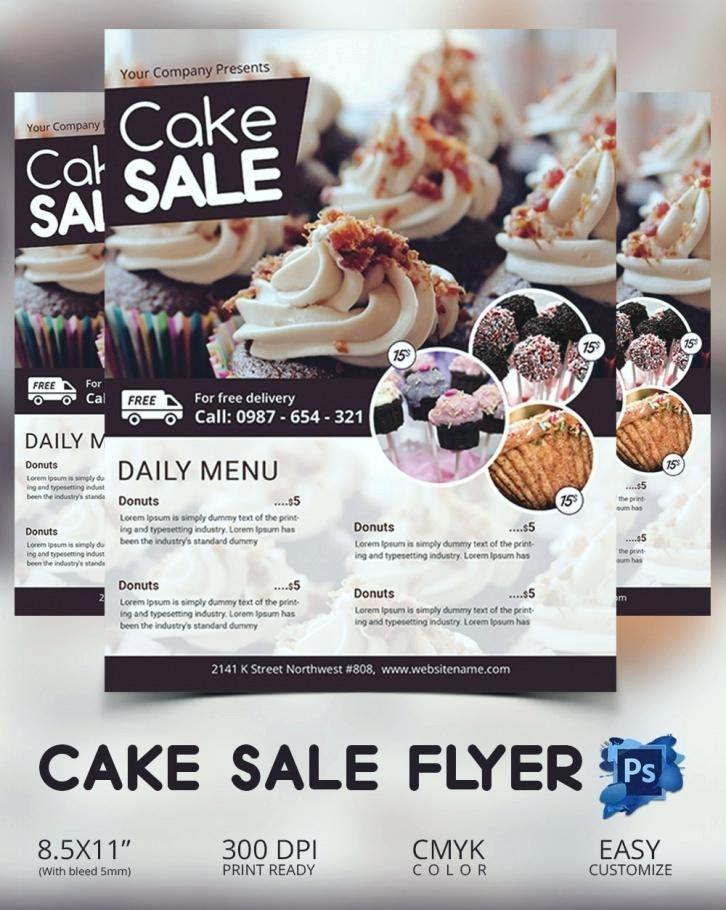 Cake Flyer Template Free
