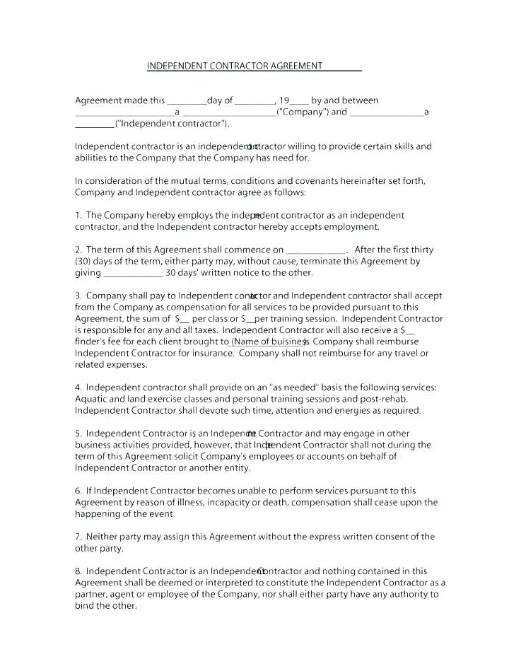 California At Will Employment Contract Template