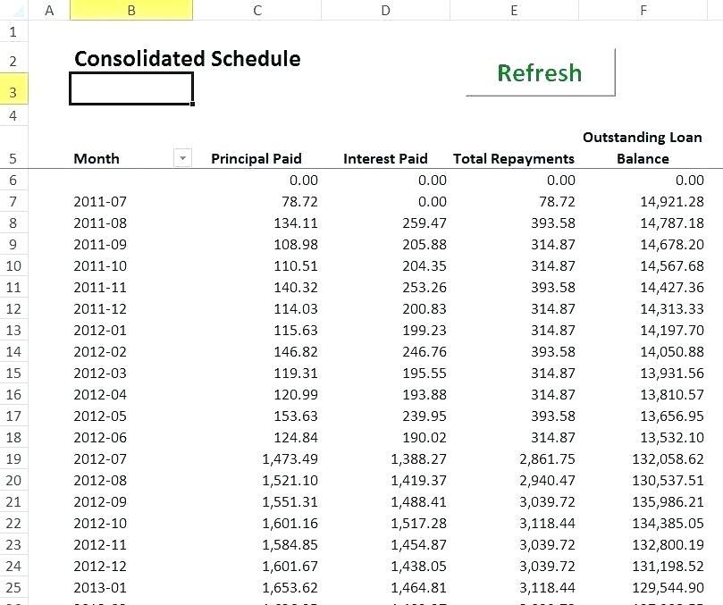 Capital Lease Amortization Schedule Excel Template