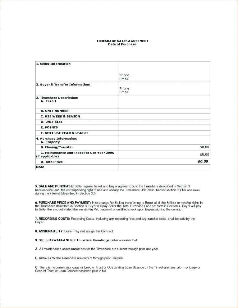 Car Buyer Seller Contract Form
