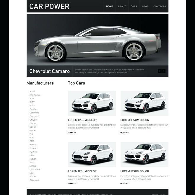 Car Dealerships Website Templates