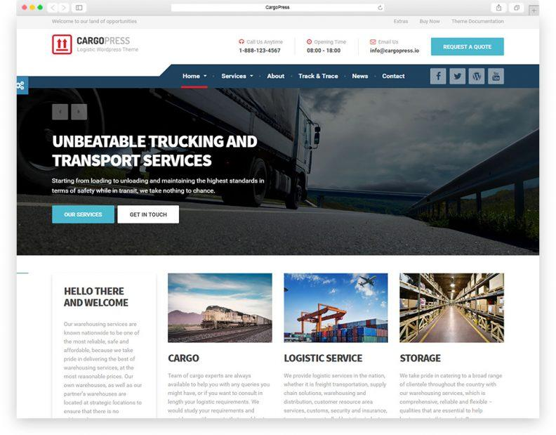 Cargo Company Website Templates