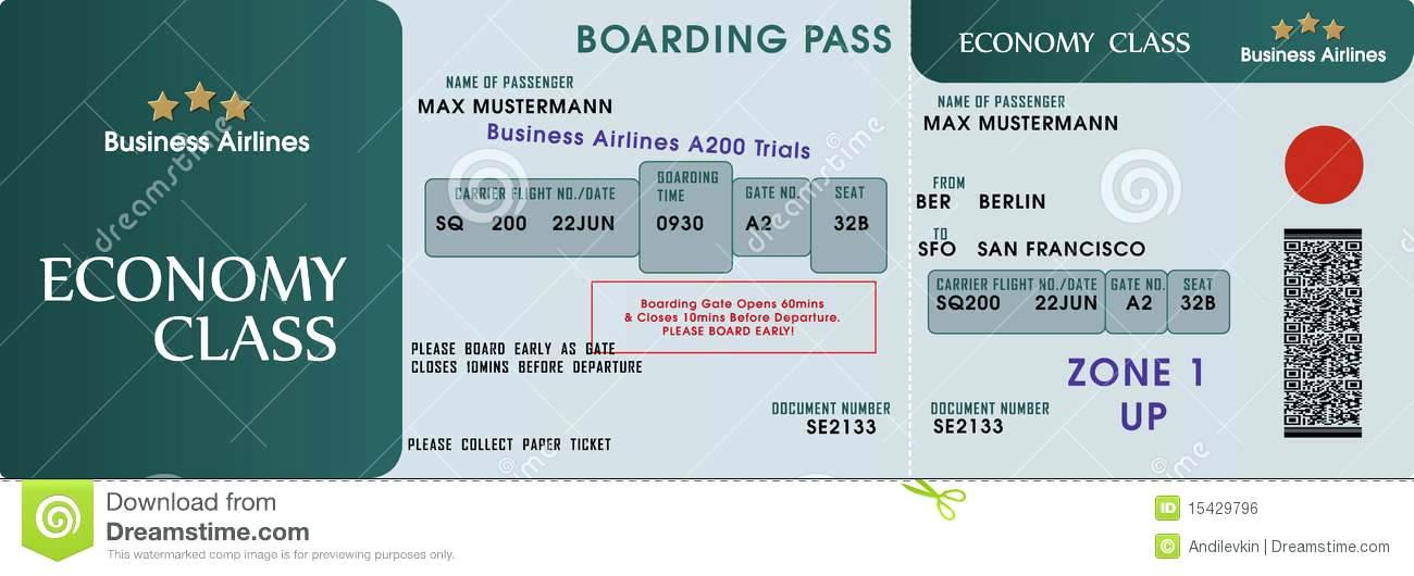 Carnival Cruise Ticket Template Free
